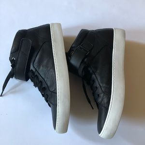 Vagabond Sport black hi-top leather sneakers